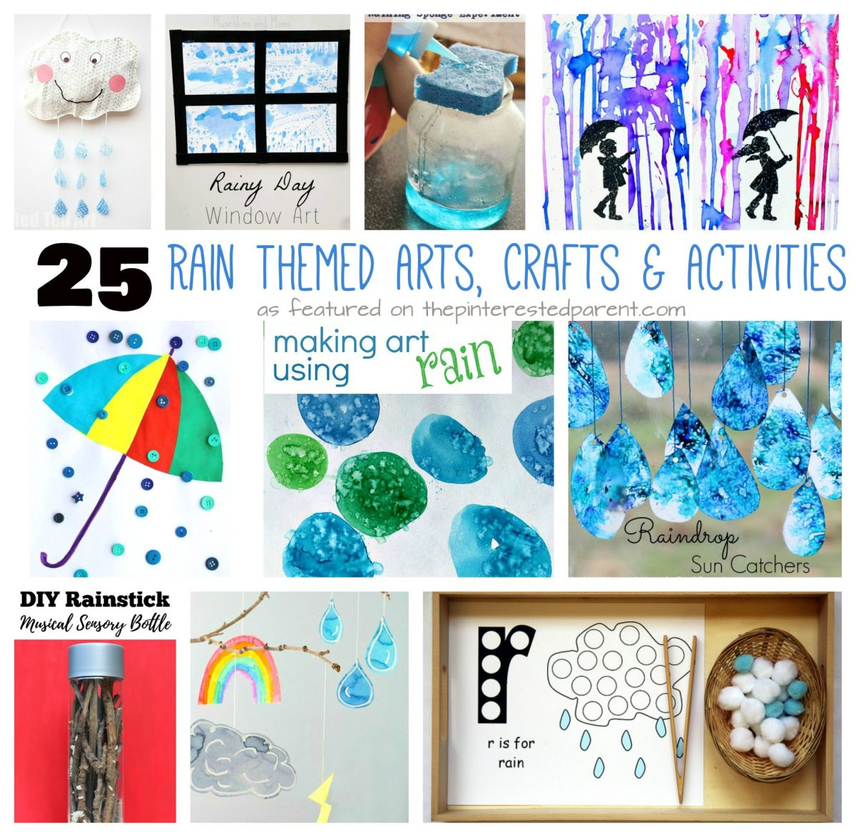 25 Rain Themed Arts, Crafts & Activities